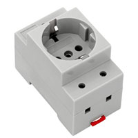 Electrical-cabinet socket outlet