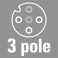 3-pole, A-coded