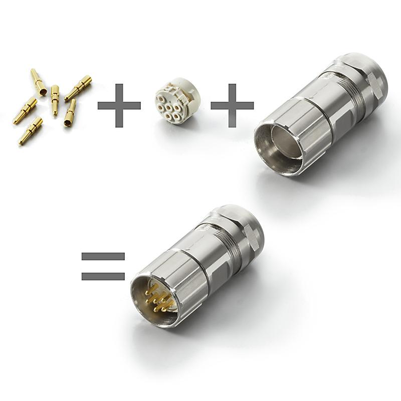 Round plug M23