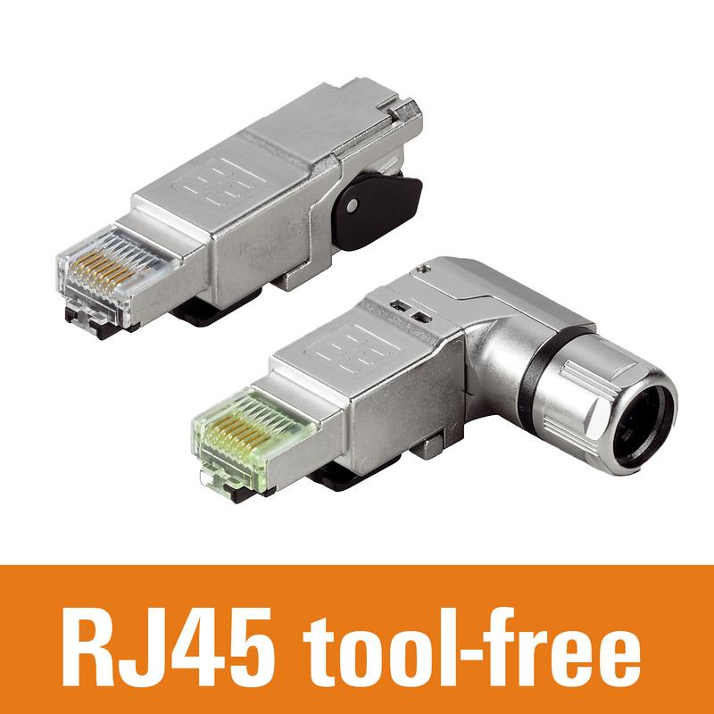 RJ45 tool-free, straight and angled