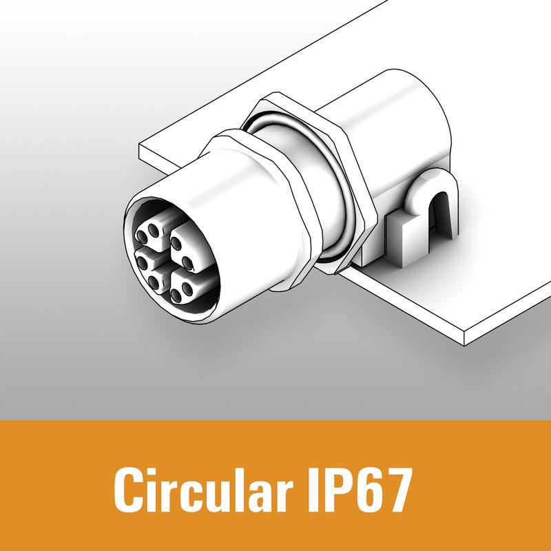 PCB circular connectors - IP67