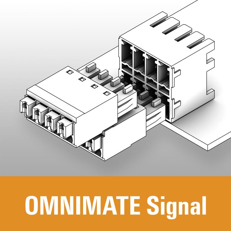 Leiterplatten-Steckverbinder - OMNIMATE Signal