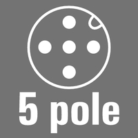 5-pole, A-coded