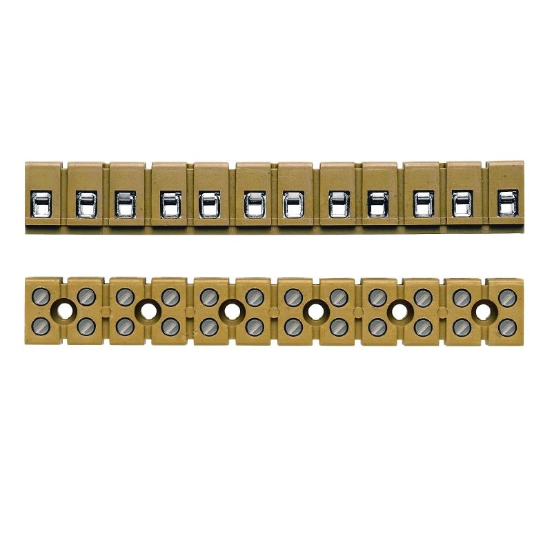 Multi-pole terminal strips