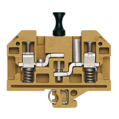 terminal blocks with spring-loaded cable clamp
