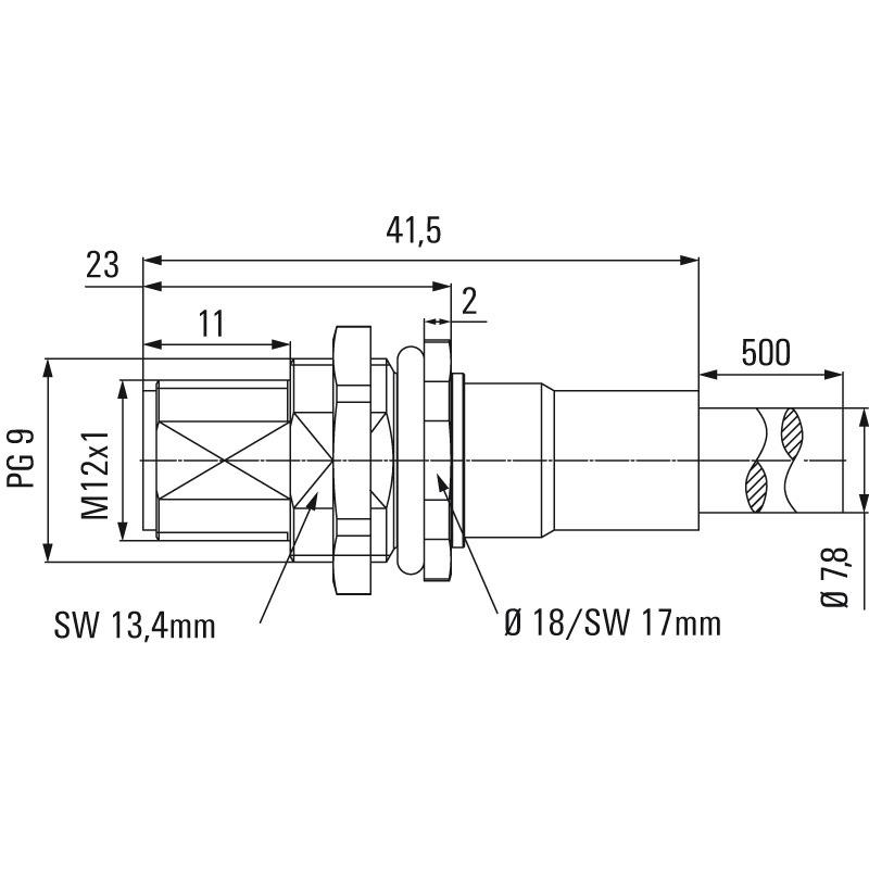 SAIE-M12S-PB-0.5U HW