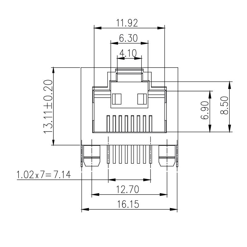RJ45C5 T1U 2.8N4N TY