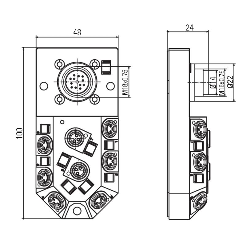 SAI-8-M16 3P M8