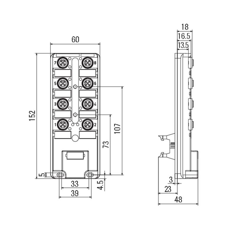 SAI-8-B 4P M12 F10