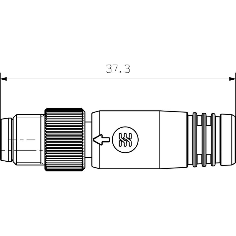 SAIEND 1/4 M8G 3P