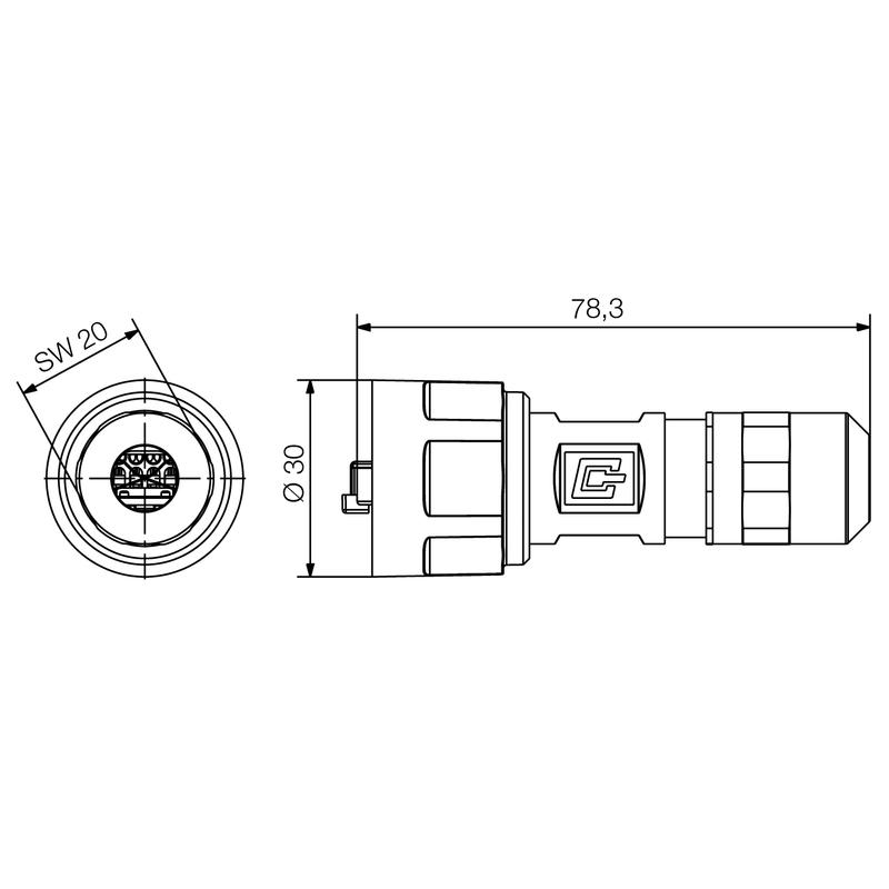 IE-PS-V01M-RJ45-FH