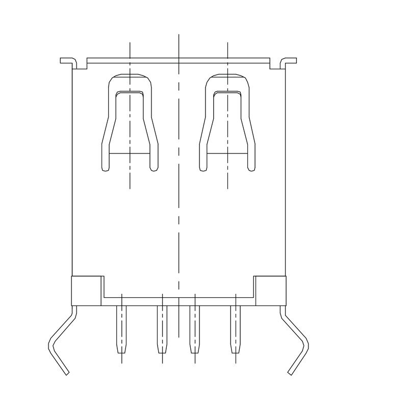 USB2.0A T1V 2.5N4 TY BK
