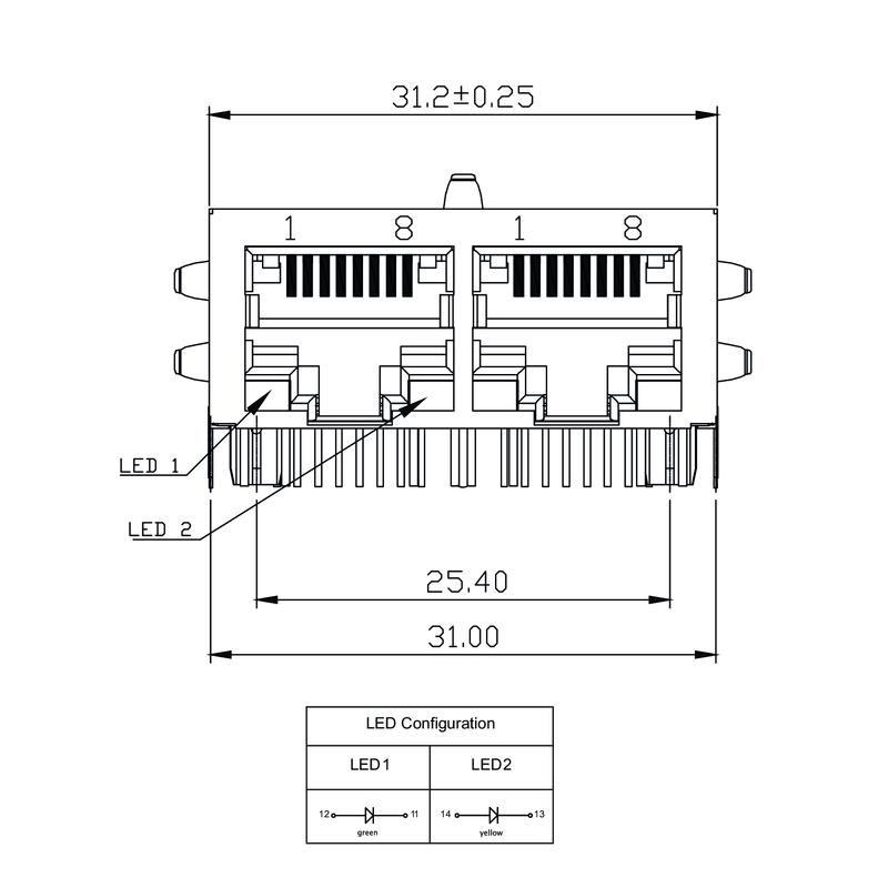 RJ45M T12D 3.3E4G/Y RL