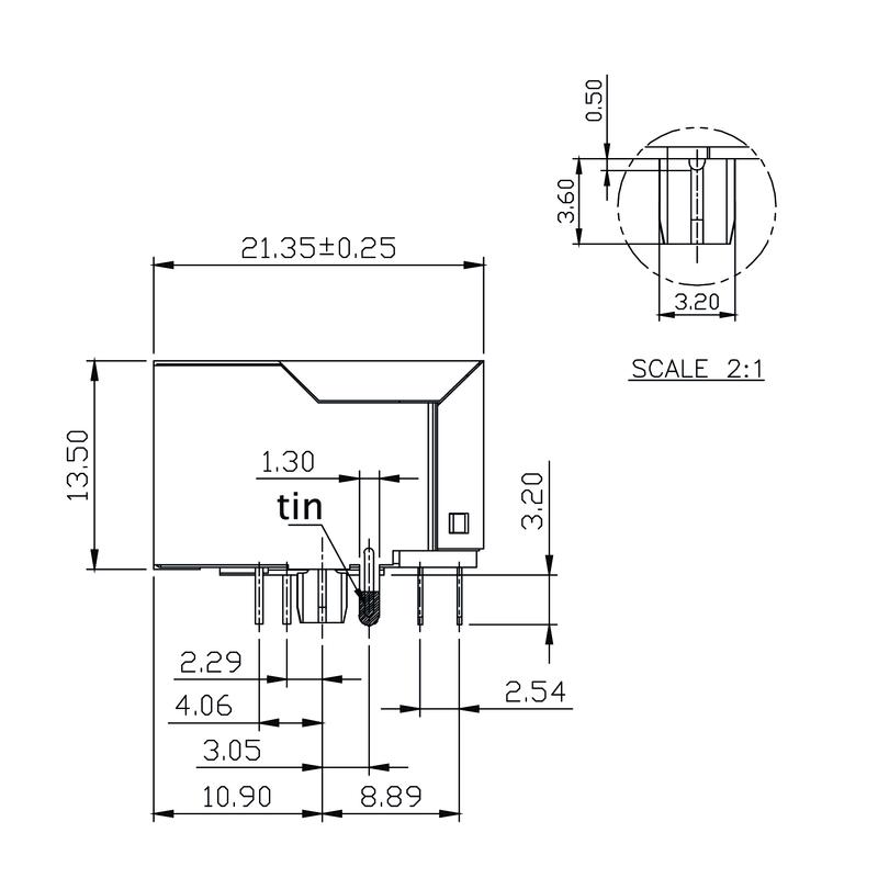 RJ45M R12D 3.2N4G/Y RL