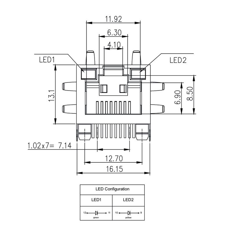 RJ45C5 T1U 2.8E4G/Y TY