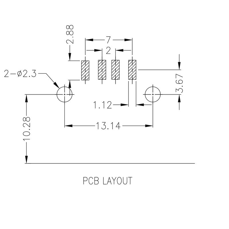 USB2.0A S1H 1.4N4 TY BK