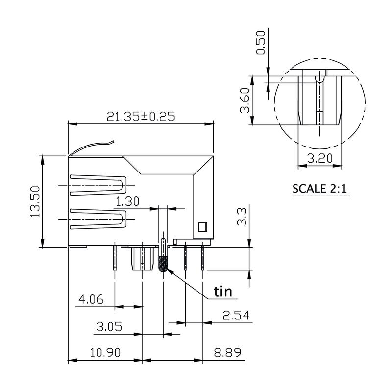 RJ45M R1D 3.3E4G/Y RL