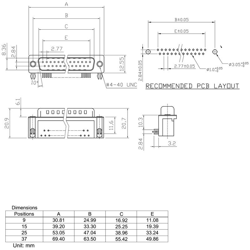 D-SUB M6.3 T09HU 3.2B2 TY BK