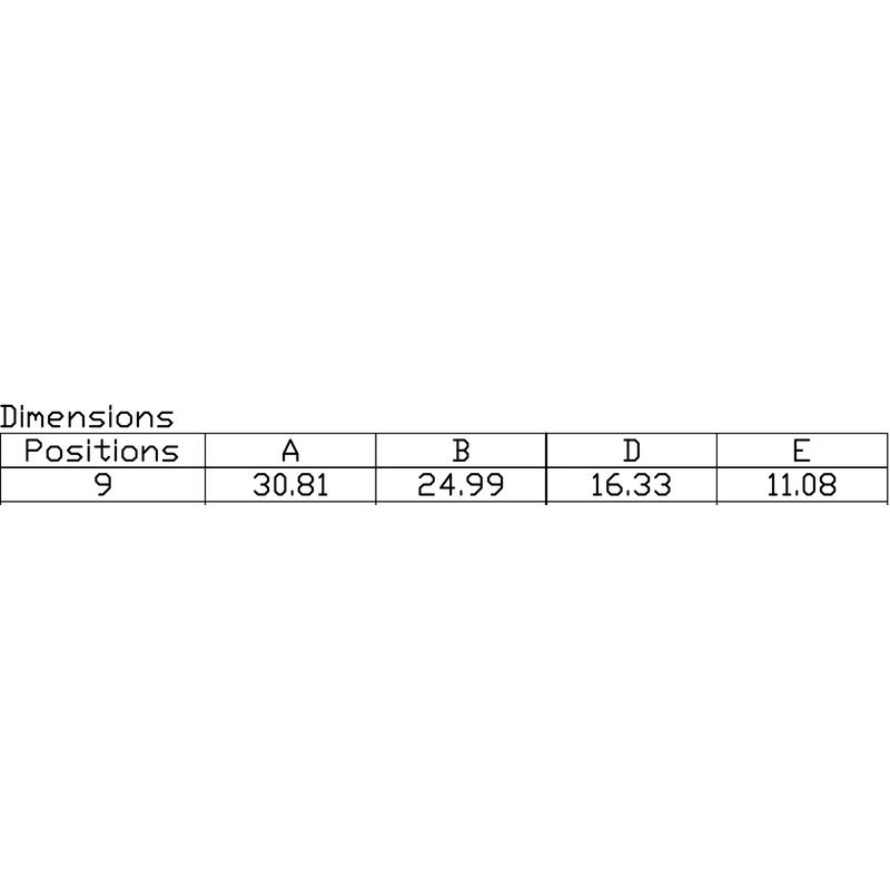 D-SUB F6.3 T09HB 3.2B2 TY BK