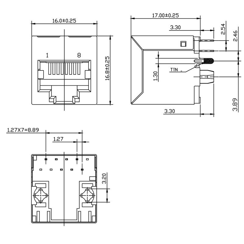 RJ45M R1V 3.3N4N TY