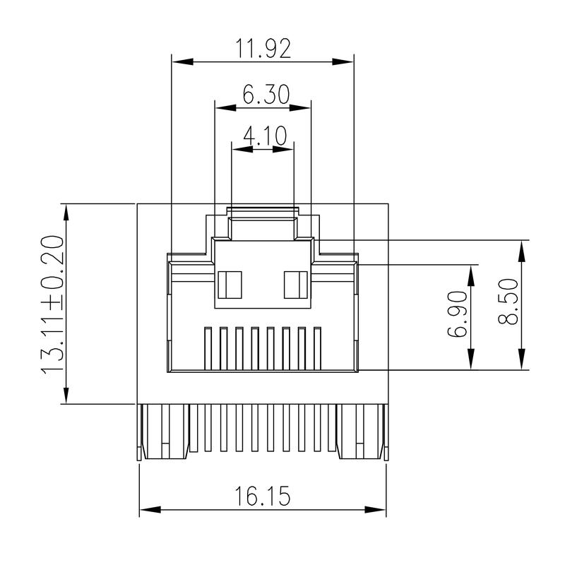 RJ45C5E R1U 2.8N4N RL