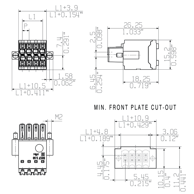 B2CF 3.50/32/180F SN BK BX