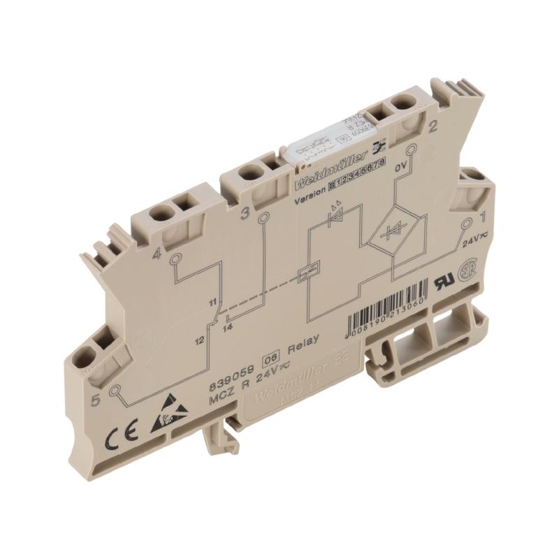 MCZ SERIES - relay module in 6 mm width