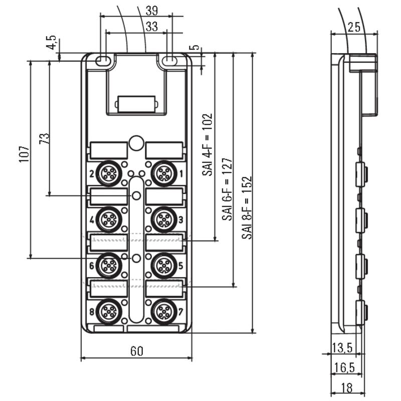 SAI-4-F 5P PUR 45M