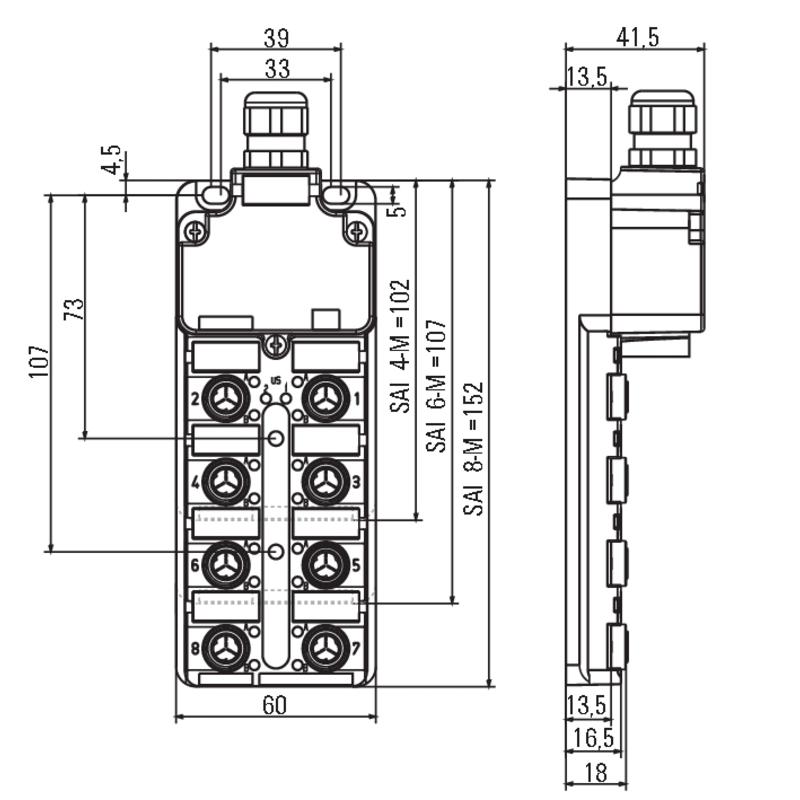 SAI-6-M 3P IDC