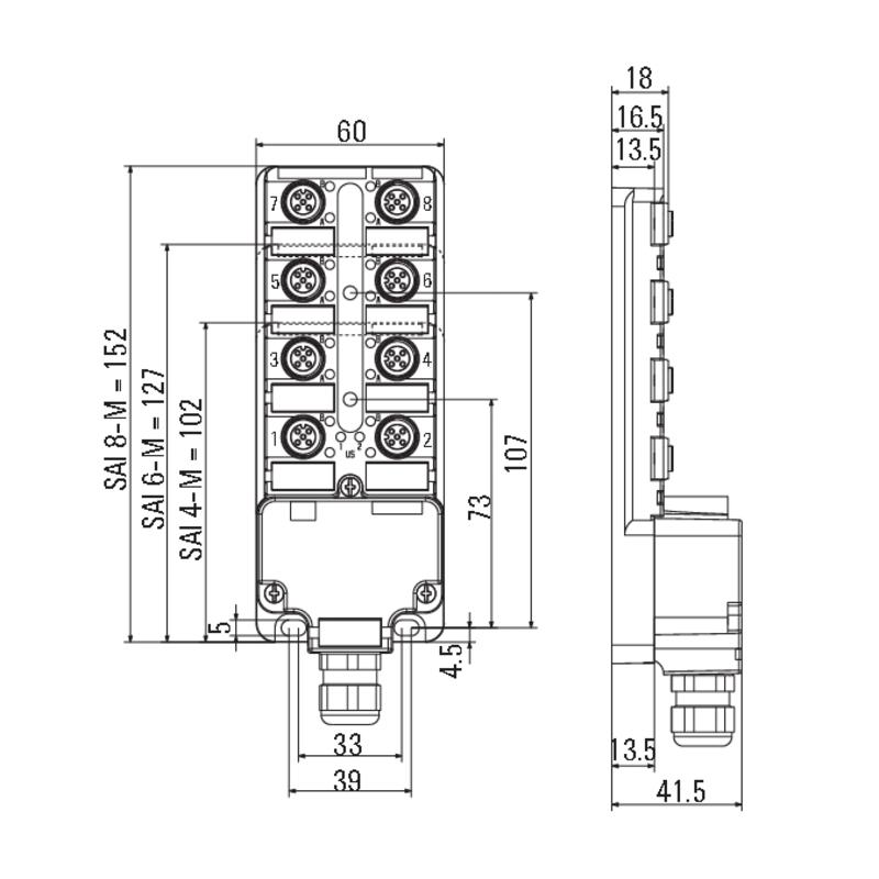 SAI-8-M 5P M12