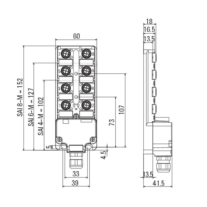 SAI-4-M 4P IDC