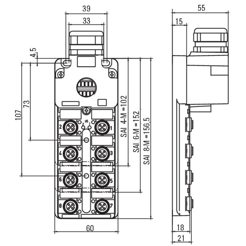 SAI-8-MHD-5P M12