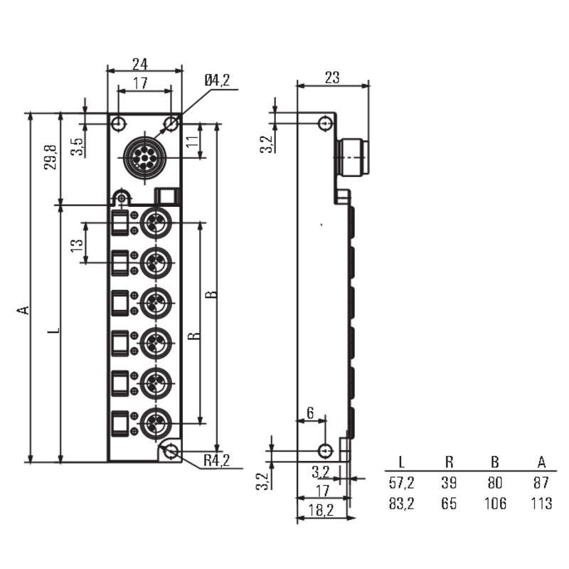 SAI-4-S 3P M8 L OL