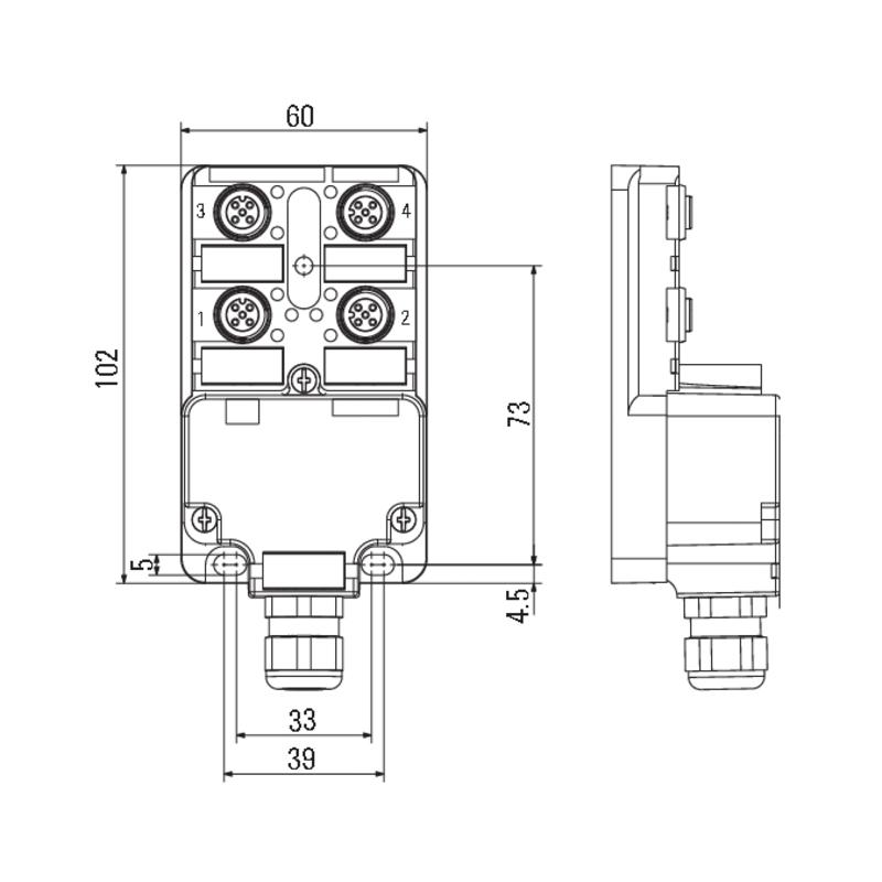 SAI-4-M 5P M12 1:1